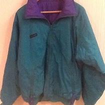 Men's Reversible Columbia Radial Sleeve Jacket Green Purple Size L Large Euc Photo