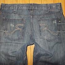 Men's Rock & Republic Bolt Dark  Blue Jeans Size 36 In. X L 32 100% Cotton  Photo