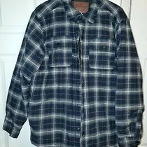 Men's Rugged Elements Insulated Shirt Jacket Dark Blue Plaid Size L Photo