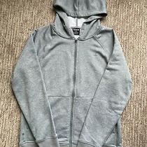 Men's S Hurley Nike Dri Fit Full Zip Fleece Hoodie Gray Photo