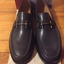 Men's Salvatore Ferragamo Sweden Dark Rain Calf Shoes Photo
