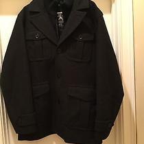 Men's Short Black Dress Coat by Express. Size Xlt Photo