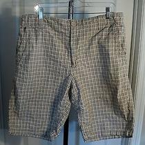 Men's Shorts Size 34 Cream Black Red Small Check Express Brand (Bxt) Photo