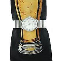 Men's Silver Stretch Band Watch Set & Steven Harris Novelty Beer Mug Tie Set Photo