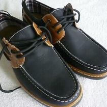 Men's Size 10m Black and Brown Aldo Rossini Cushion Heel Boat Shoes - Never Worn Photo