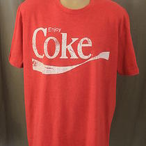 Men's Size 2xl Coca Cola Coke Heather Red Classic Logo Soft Thin Ss T-Shirt Photo