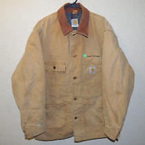 Men's Size 44 Large Xl Carhartt  Chore Barn Coat Jacket Blanket Lined  Photo