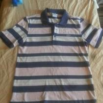 Men's Size Extra Small 3 Lacoste Pink/red/green Striped Short Sleeve Polo Shirt Photo