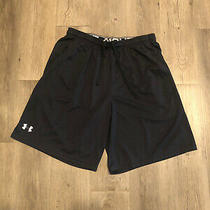 Mens Size L Large Under Armour Coaches Shorts - Black Photo