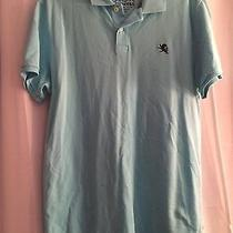 Men's Size Large Express Polo Shirt- Light Blue Fitted Short-Sleeve Photo