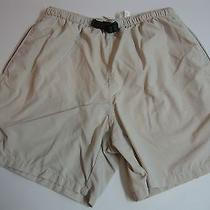 Men's Size Med Columbia Nylon Beige Water Shorts