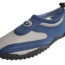 Men's Slip on Water Shoes Aqua Socks Pool Beach Yoga Exercise  Navy/grey 8 Photo