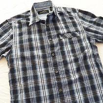 Men's Small - J Campbell Los Angeles - Button Down Blue Plaid Shirt Guc Photo