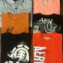 Men's Small Shirts Lot Element Aeropostle Hurley and Others All Euc Photo