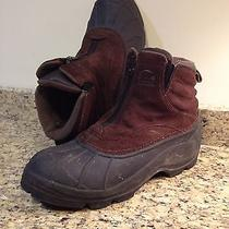Men's Sorel Barn Zip Boot Winter Leather Boots Size 10.5 in Good Condition Warm Photo