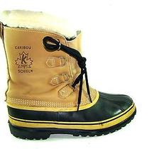 Men's Sorel Caribou Snow Winter Mud Boots Rubber Leather Canada  Sz 11 Near Mint Photo