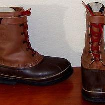 Mens Sorel Classic Insulated Winter Snow Lace Leather Tall Duck Boot Sz 10 Photo