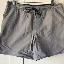 Men's Swimsuit/ Bathing Suit Size Large St. John's Bay Gray Drawstring. Photo