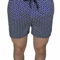 Men's Swimwear Diamond Shorts Blue Short Boxer Shorts Bermuda Micro Fantasy Photo