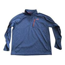 Mens the North Face Zip Pullover Sweater Size 2xl Gray Orange Photo