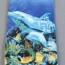 Men's Tie Steven Harris Dolphin Sea Life Ocean Poly Men's Novelty Tie Z1949 Photo