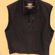 Men's Timberland Brown Fleece Polyester Vest Size L Large Photo
