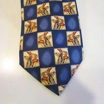 Men's Tommy Bahama 100% Silk Blue Neck Tie  Golf Club Theme   Photo