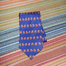Men's Tommy Bahama Designer Necktie Off Island Blue Beach Chairs Silk 58