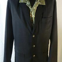 Men's Tommy Bahama L Black Silk Sport Coat Jacket  Photo