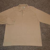 Men's Tommy Bahama Long Sleeve Polo Shirtxl 55% Silk Photo