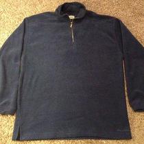 Men's Tommy Bahama Medium 1/4 Zip Sweatshirt Fleece Sweater Blue Fall Winter Photo