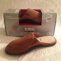 Men's Totes Elements Slipper Gift Brown Clog Bedroom Shoe Slip on Large 9.5 10.5 Photo