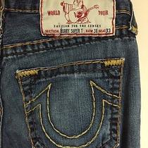 Men's True Religion Bobby Super T Thick Stitch Jeans Size Row 31 Seat 33 X 29.5 Photo