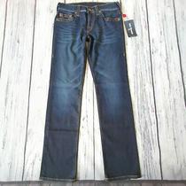 Men's True Religion Jeans 30 X 32 Ricky Straight Leg in Blue Rrp 139 Bnwt Photo