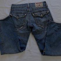 Men's True Religion Joey Distressed Jeans Sz Row 32- Seat 33 Photo