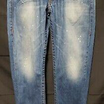 Men's True Religion World Tour Slim Dark Wash Blue Jeans 12790  33w X 32 Great Photo