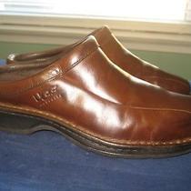 Men's Ugg Australia Brown Distressed Leather Slipper Clog Shoes Sz 10.5  Eu 44  Photo
