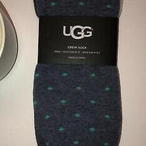 Men's Ugg Australia Owen Dress Crew Socks Navy Heather One Size Blue Green Photo