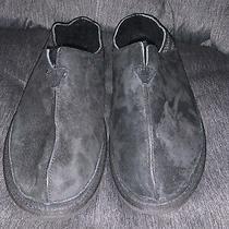 Mens Ugg Black Sheepskin Slippers Loafers Size 11 Photo