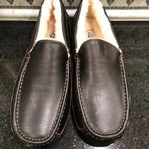 Men's Ugg Brown Leather Ascot Slippers- Size 12- 5379 Photo