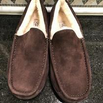 Men's Ugg Espresso Brown Ascot Slippers- Size 11- 1101110 Photo