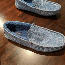 Men's Ugg Slippers - Blue Leather - Size 12 Brand New Photo
