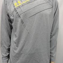 Men's Under Armour Grey Heat Gear Printed Shirt Size- Md Photo