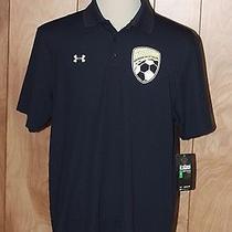 Men's Under Armour Heat Gear Polo Shirt-Size Large Photo