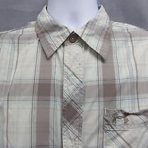 Men's Under Armour New Prototype Large  Plaid S/s Snap Button Shirt Photo