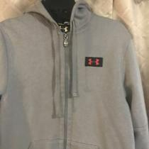 Mens Under Armour Storm Hooded Sweatshirt Zip Up Jacket Gray Size Small Photo