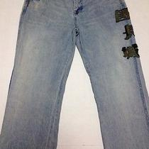 Men's Unique 7 for All Mankind Great Wall Rare Jeans 36 Embroidered Photo
