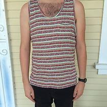 Men's Urban Outfitters Koto Red Striped Tribal Aztec Print Tank Top Medium Photo