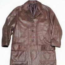 Men's Versace Classic Leather Coat Size M Photo