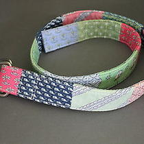 Men's Vineyard Vines Cotton Patchwork Belt M Photo
